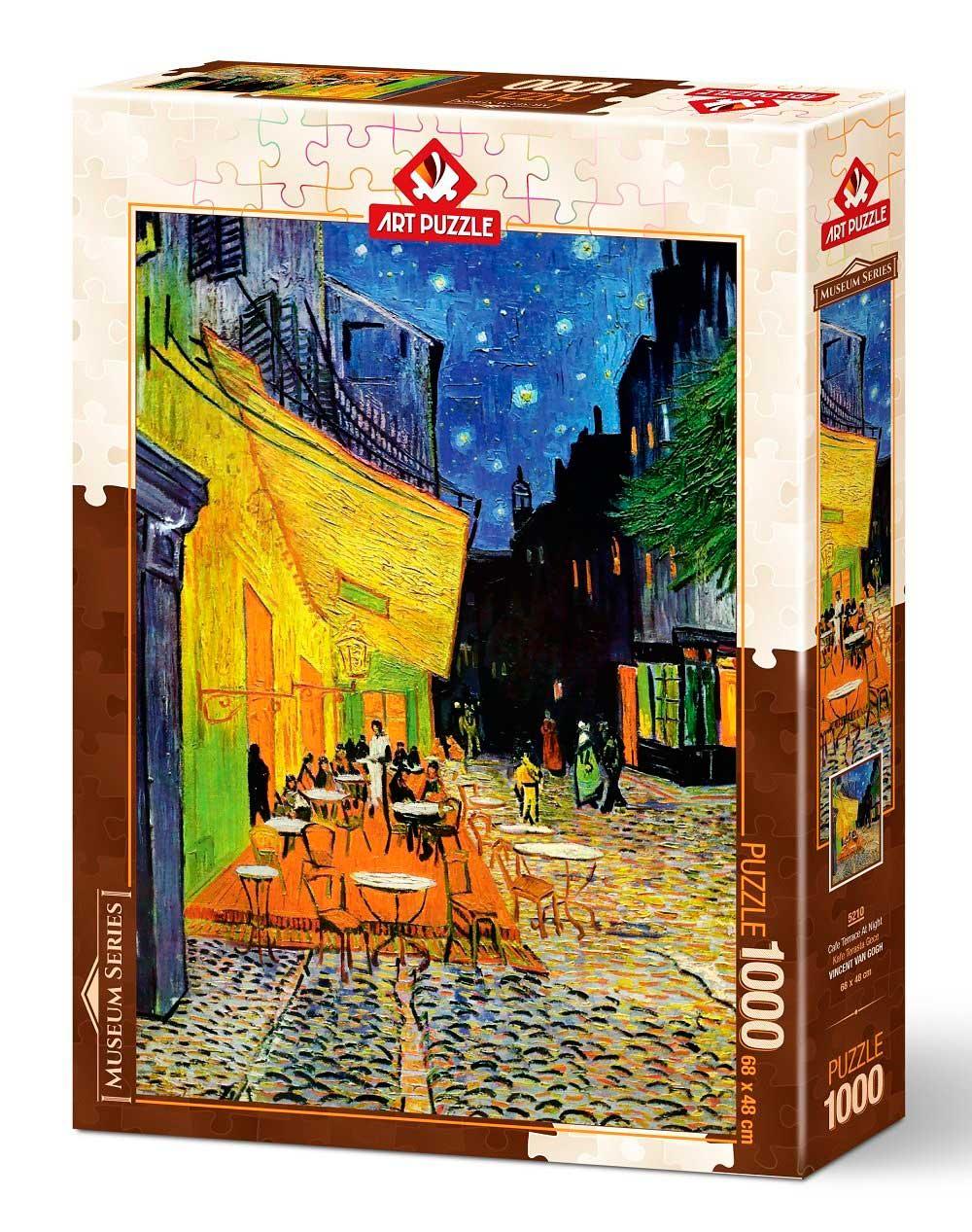 Puzzle Art Puzzle Terraza de Café por la Noche de 1000 Piezas