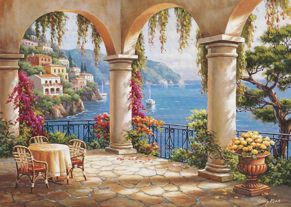 Puzzle Art Puzzle Terraza en el Mediterráneo de 260 Piezas