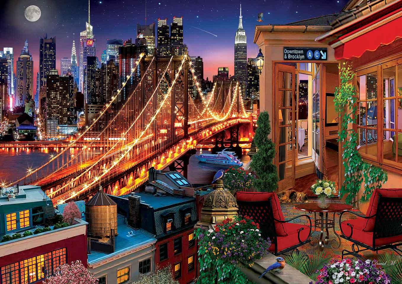 Puzzle Art Puzzle Terrazas de Brooklyn de 1500 Piezas
