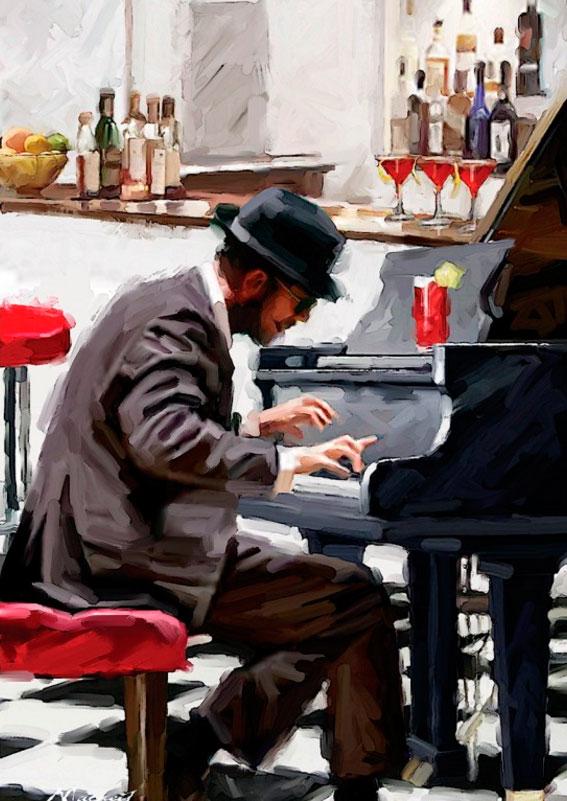 Puzzle Art Puzzle Tocando el Piano de 1500 Piezas