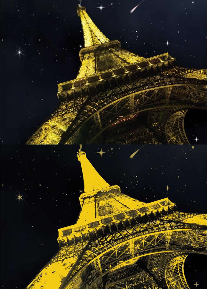 Puzzle Art Puzzle Torre Eiffel, París Neón 1000 Piezas