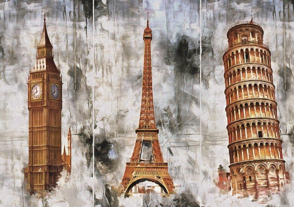 Puzzle Art Puzzle Tres Ciudades Tres Torres de 1000 Piezas