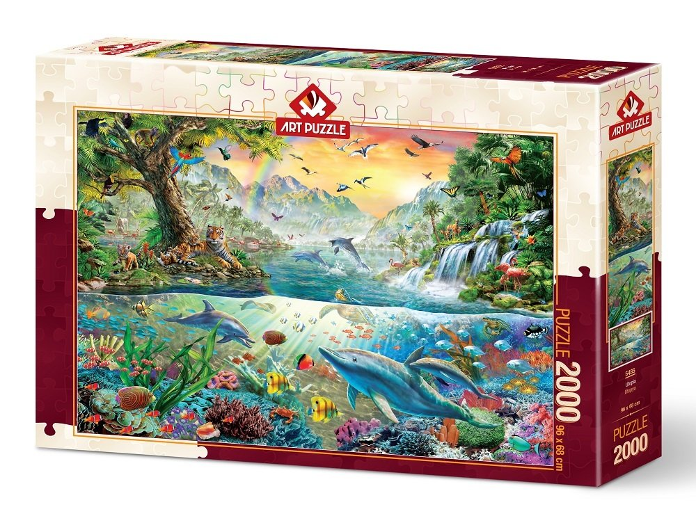 Puzzle Art Puzzle Utopía Animal de 2000 Piezas