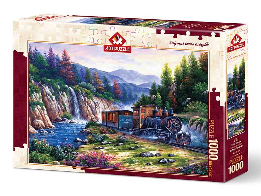 Puzzle Art Puzzle Viajando en Tren de 1000 Piezas