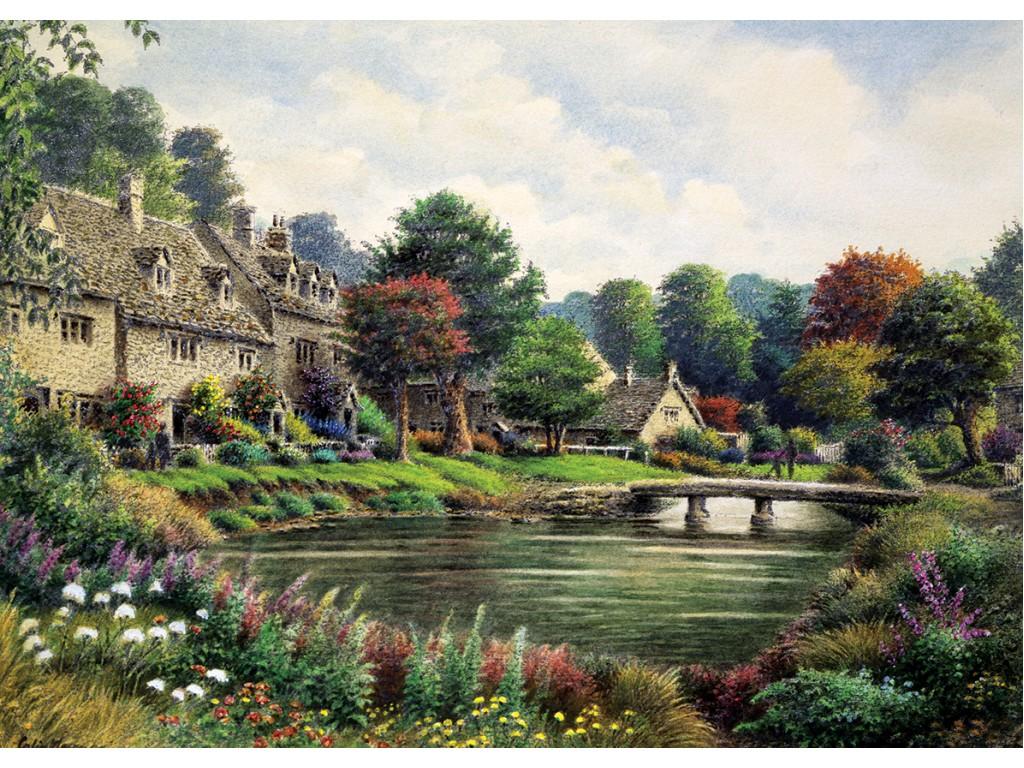 Puzzle Art Puzzle Villa de Montaña de 2000 Piezas