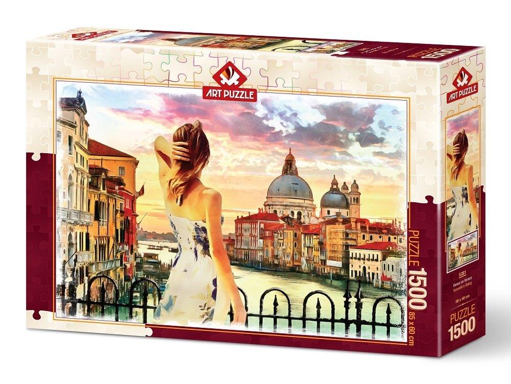 Puzzle Art Puzzle Vistas de Venecia de 1500 Piezas