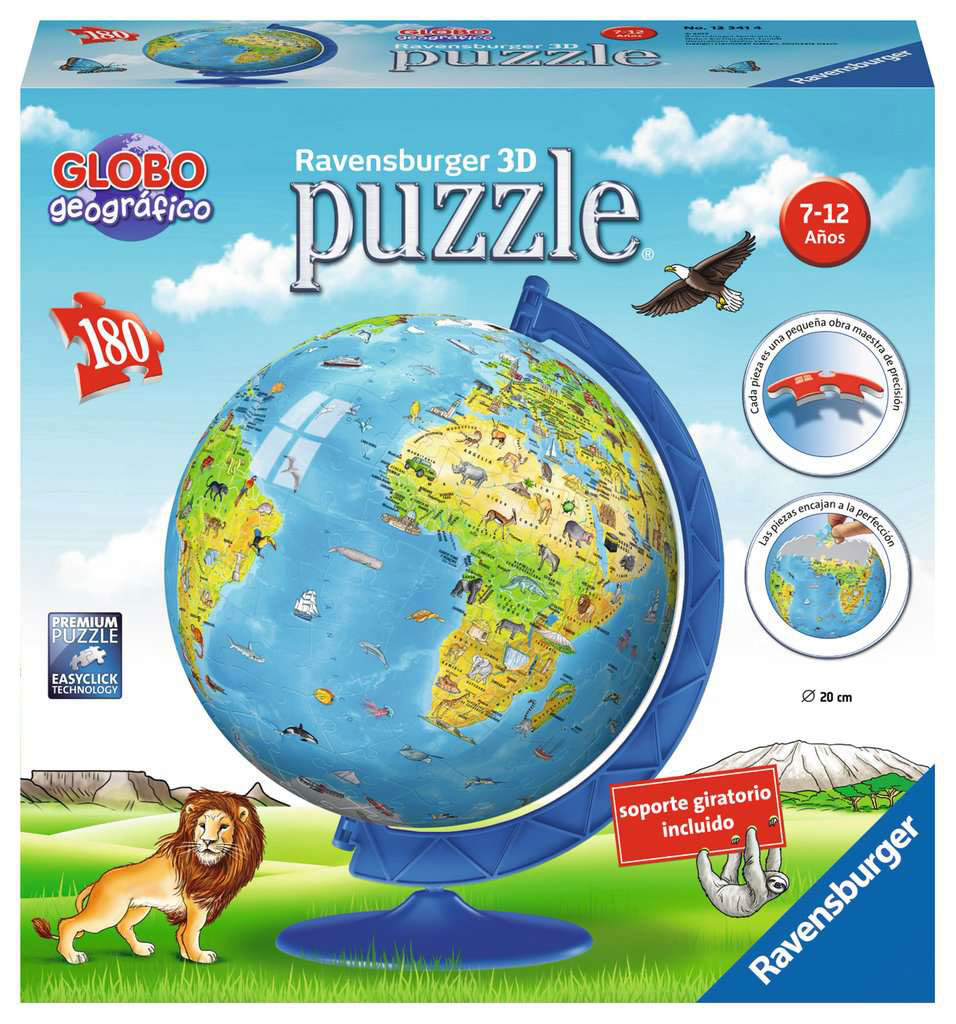 Puzzle Ball 3D Ravensburger Globo Geográfico de 180 Pzs