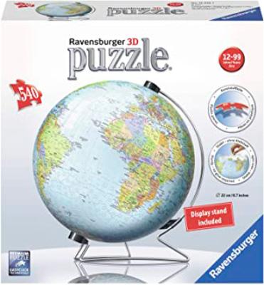 Puzzle Ball 3D Ravensburger Globo Terraqueo de 540 Pzs