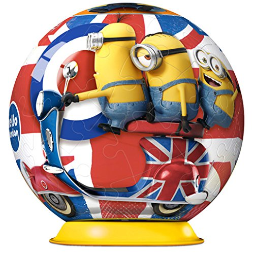 Puzzle Ball 3D Ravensburger Minions en la Gran Bretaña de 54 Pie