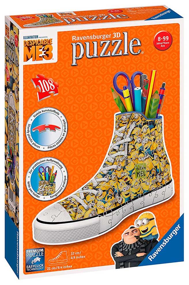 Puzzle Ball 3D Ravensburger Sneaker Minions Lapicero de 108 Piez