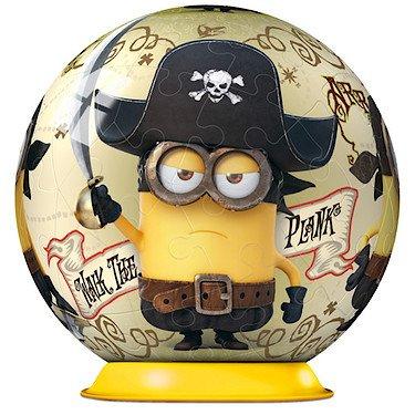 Puzzle Ball 3D Ravensburger Minion Pirata de 54 Piezas