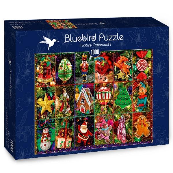 Puzzle Bluebird Adornos Navideños de 1000 Piezas