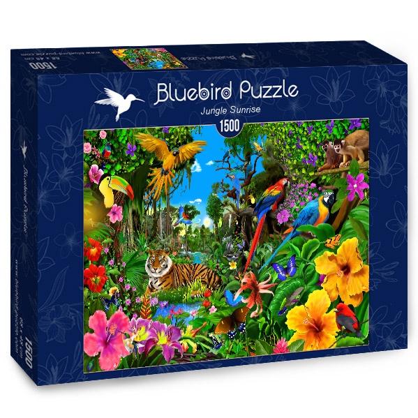 Puzzle Bluebird Amanece en la Jungla de 1500 Piezas