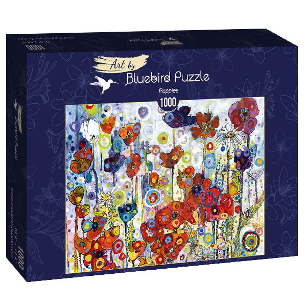 Puzzle Bluebird Amapolas de 1000 Piezas