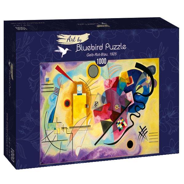 Puzzle Bluebird  Amarillo Rojo y Azul de 1000 Piezas