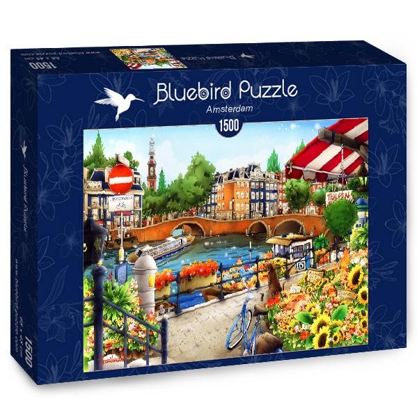Puzzle Bluebird Ámsterdam de 1500 Piezas