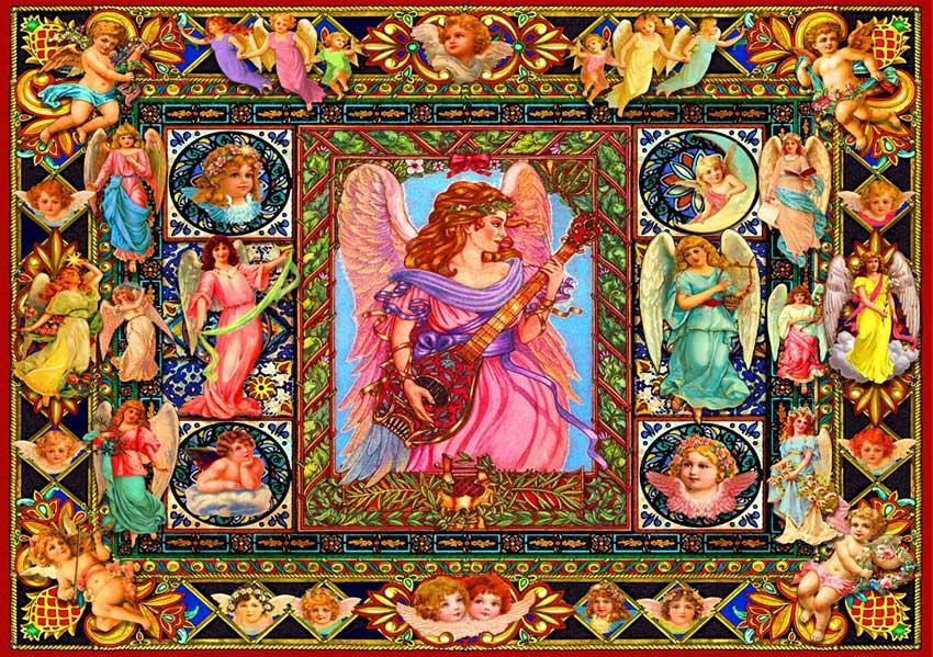 Puzzle Bluebird Ángeles Antiguos de 1500 Piezas