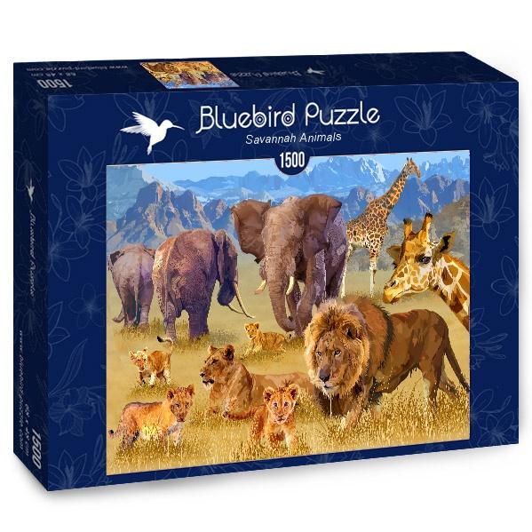Puzzle Bluebird Animales de la Sabana de 1500 Piezas