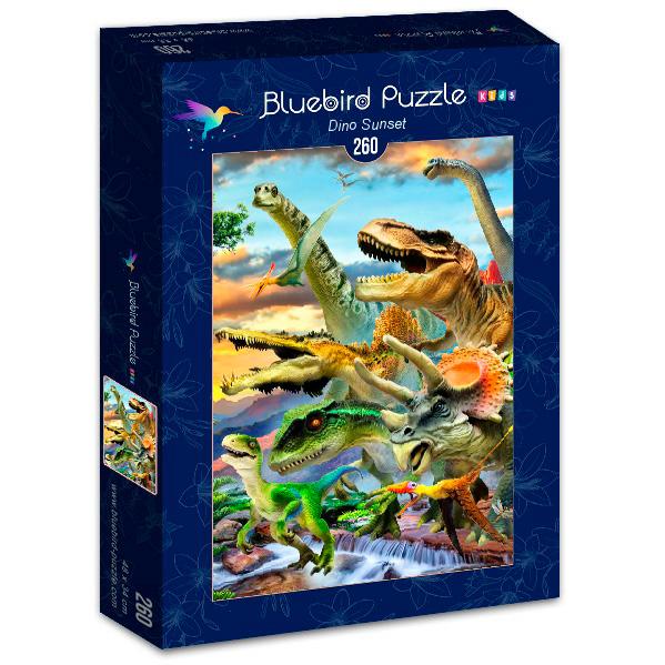 Puzzle Bluebird Atardecer Dino de 260 Piezas