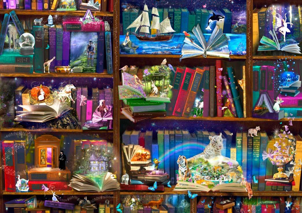 Puzzle Bluebird Aventuras en la Biblioteca de 1000 Piezas