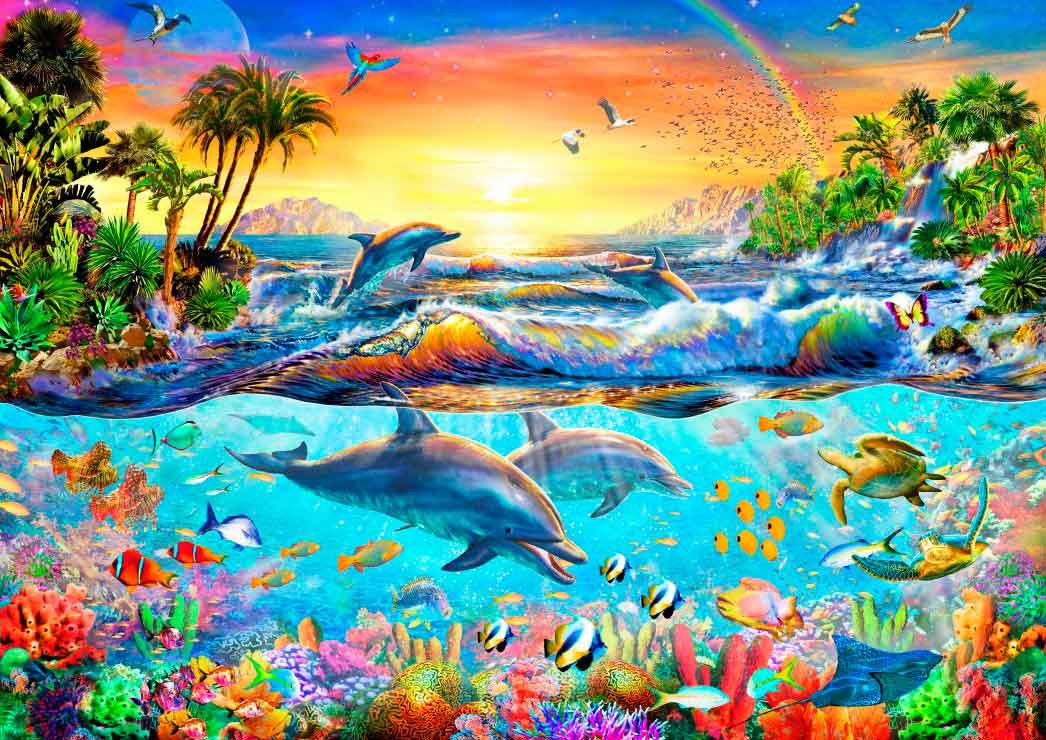 Puzzle Bluebird Bahía Tropical de 3000 Piezas