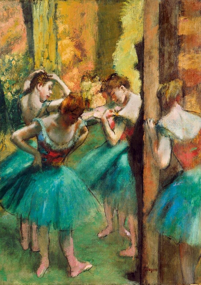 Puzzle Bluebird Bailarinas, Rosa y Verde de 1000 Piezas