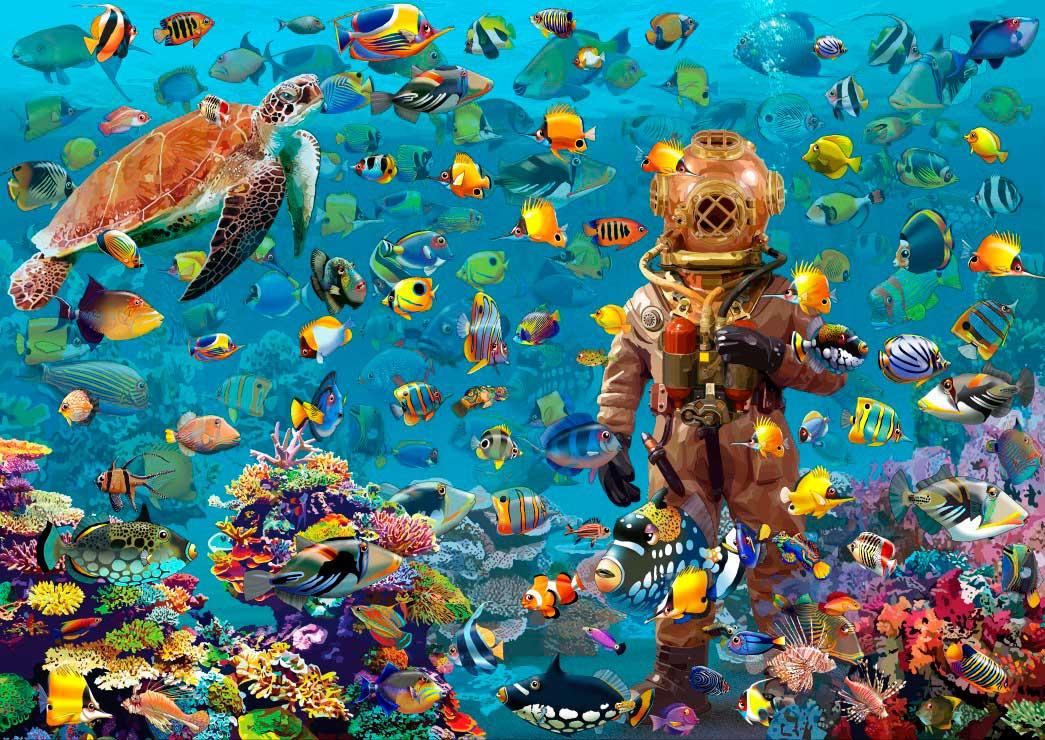 Puzzle Bluebird Bajo del Mar de 3000 Piezas