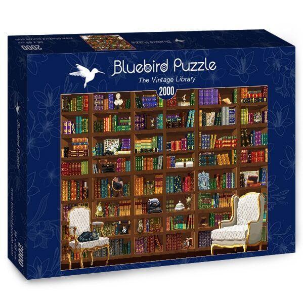 Puzzle Bluebird Biblioteca Vintage de 2000 Piezas