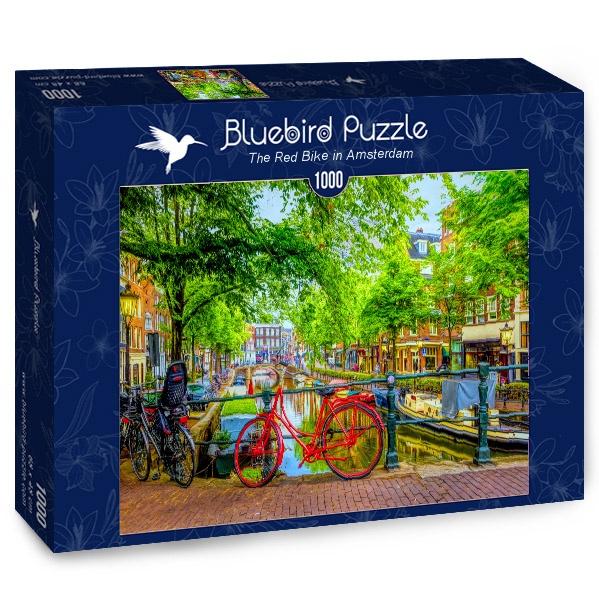 Puzzle Bluebird Bicicleta Roja en Ámsterdam de 1000 Piezas