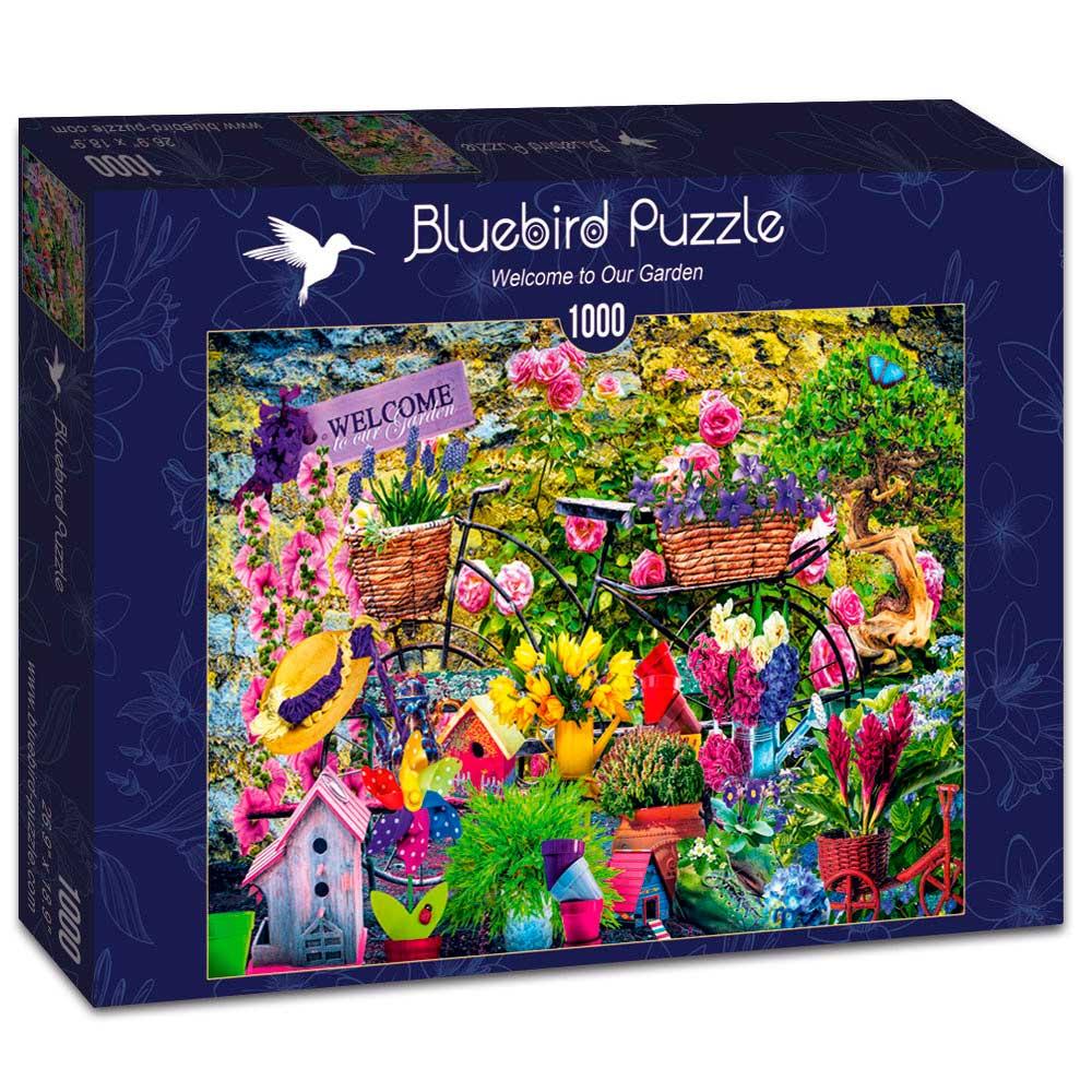 Puzzle Bluebird Bienvenido a Nuestro Jardín de 1000 Piezas