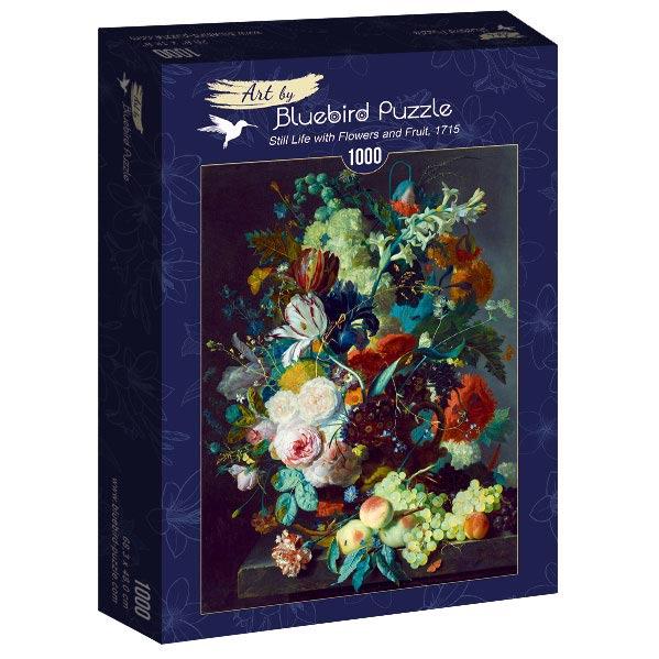 Puzzle Bluebird Bodegón Con Flores y Frutas de 1000 Piezas