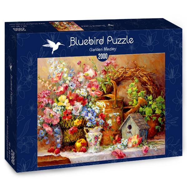 Puzzle Bluebird Bodegón de Jardín de 2000 Piezas