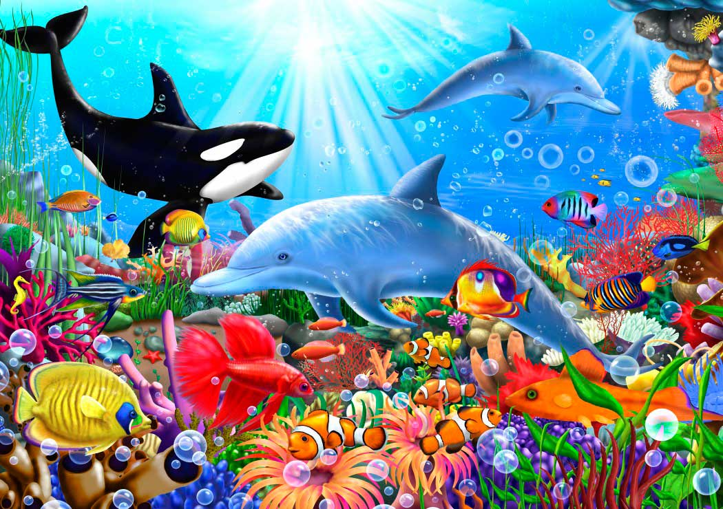 Puzzle Bluebird Brillante Mundo Submarino de 1500 Piezas