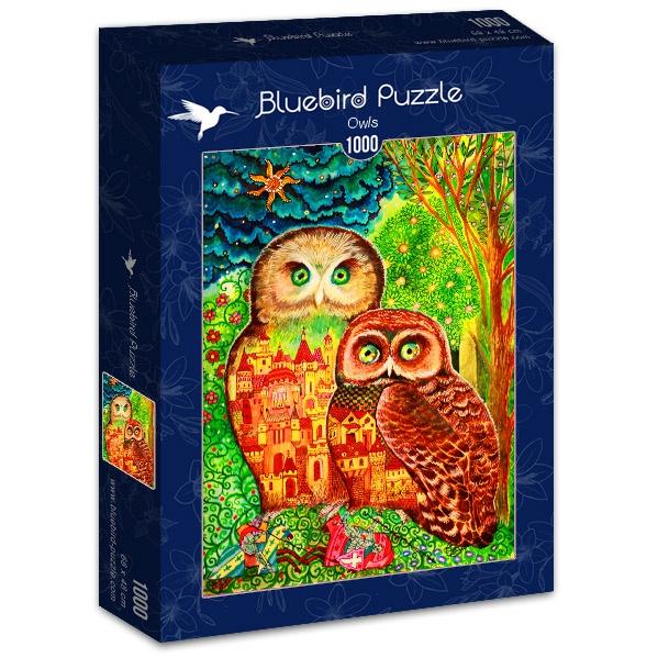 Puzzle Bluebird Búhos de 1000 Piezas