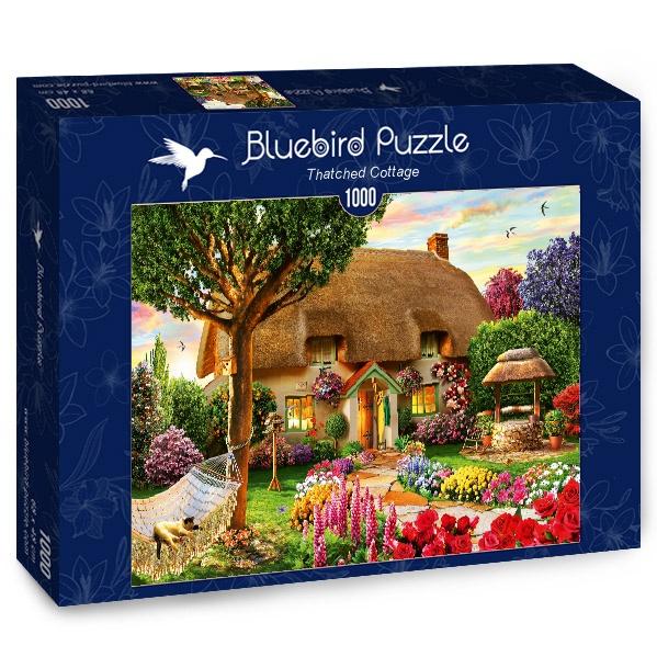 Puzzle Bluebird Cabaña con Techo de Paja de 1000 Piezas