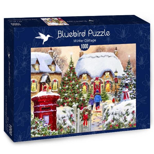 Puzzle Bluebird Cabaña de Invierno de 1000 Piezas