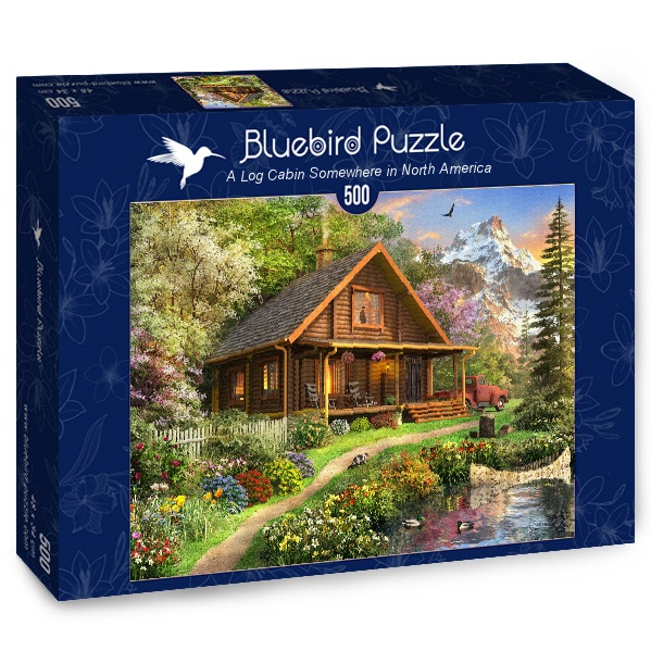 Puzzle Bluebird Cabaña de Madera en el Norte de 500 Piezas