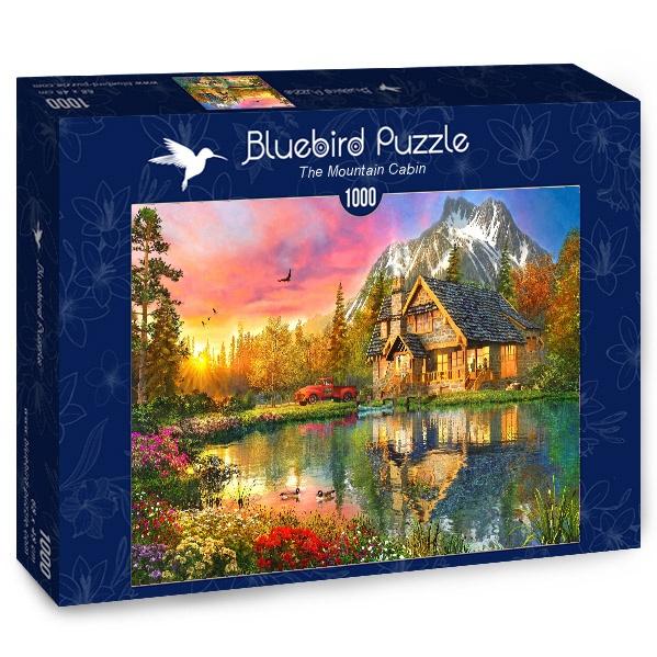 Puzzle Bluebird Cabaña de Montaña de 1000 Piezas