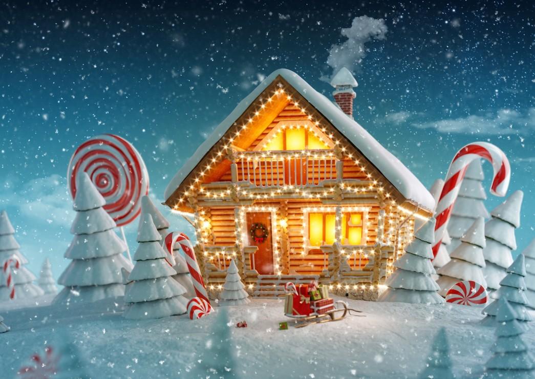 Puzzle Bluebird Cabaña de Navidad de 500 Piezas