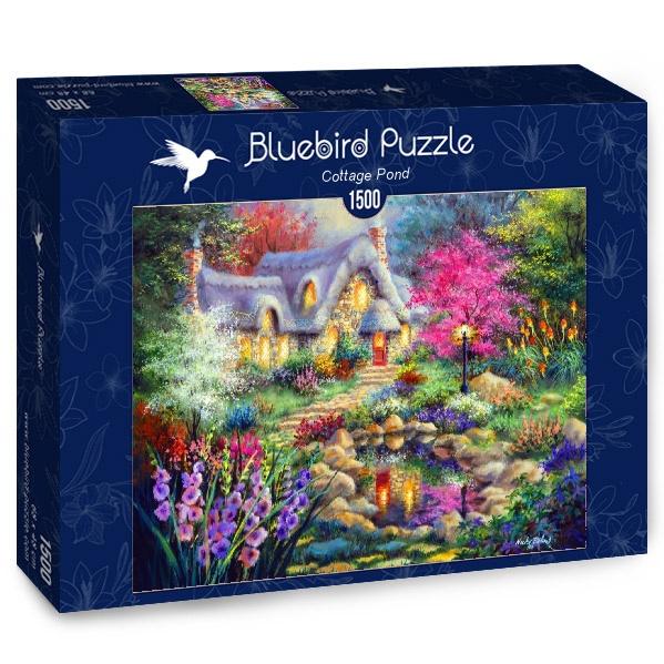 Puzzle Bluebird Cabaña del Estanque de 1500 Piezas