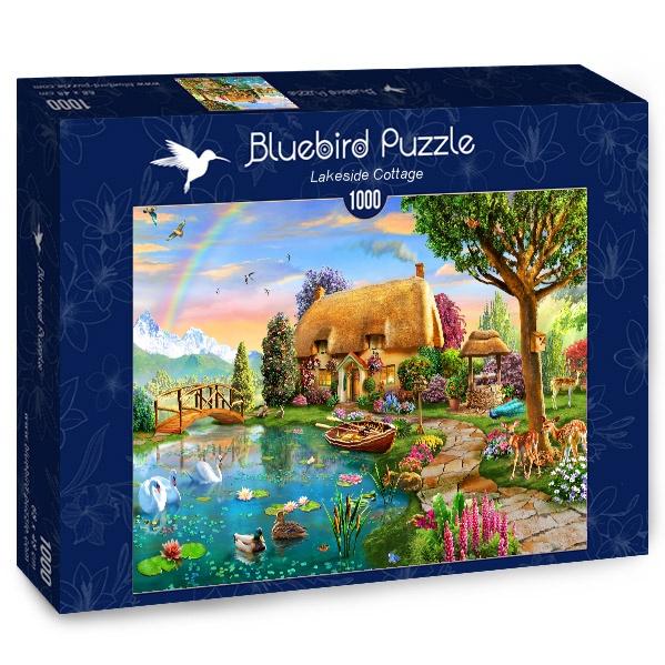 Puzzle Bluebird Cabaña Junto al Lago de 1000 Piezas