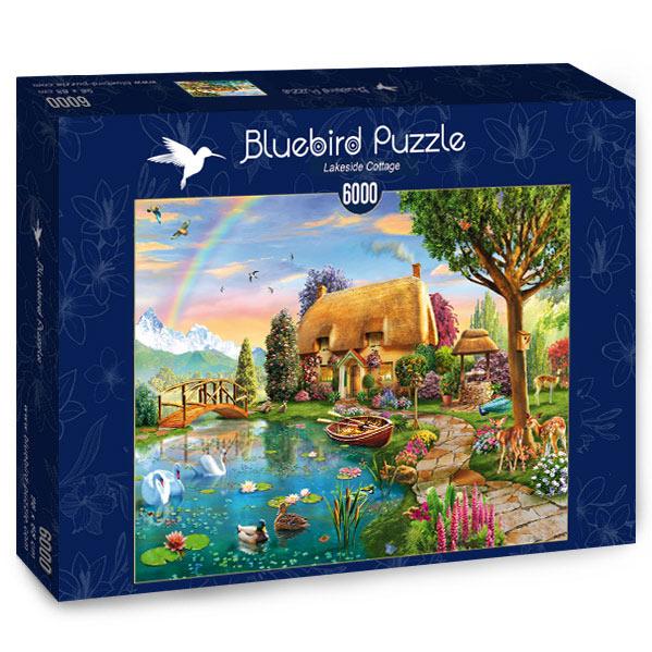 Puzzle Bluebird Cabaña Junto al Lago de 6000 Piezas