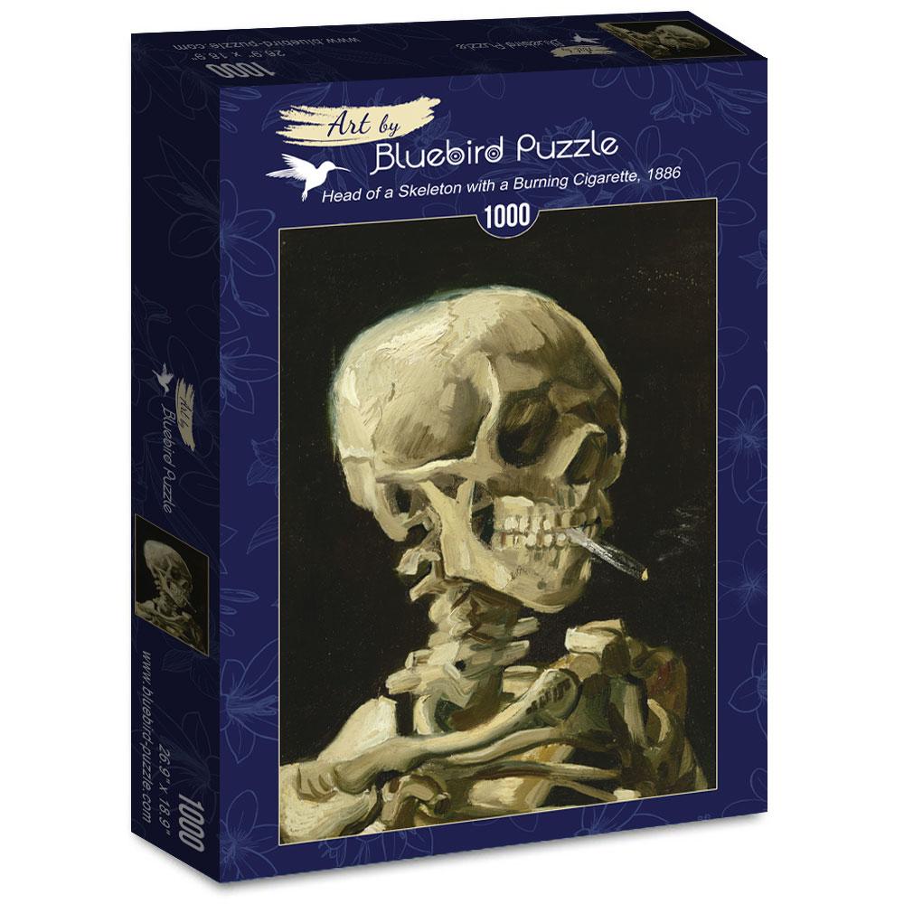 Puzzle Bluebird Cráneo con Cigarro Encendido de 1000 Piezas