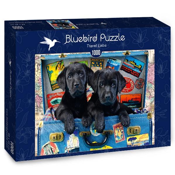Puzzle Bluebird Cachorros Negros Viajeros de 1000 Piezas