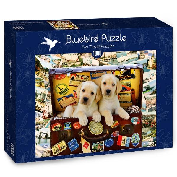 Puzzle Bluebird Cachorros Viajeros de 1000 Piezas
