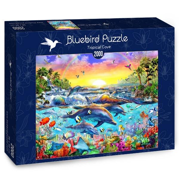 Puzzle Bluebird Cala Tropical de 2000 Piezas