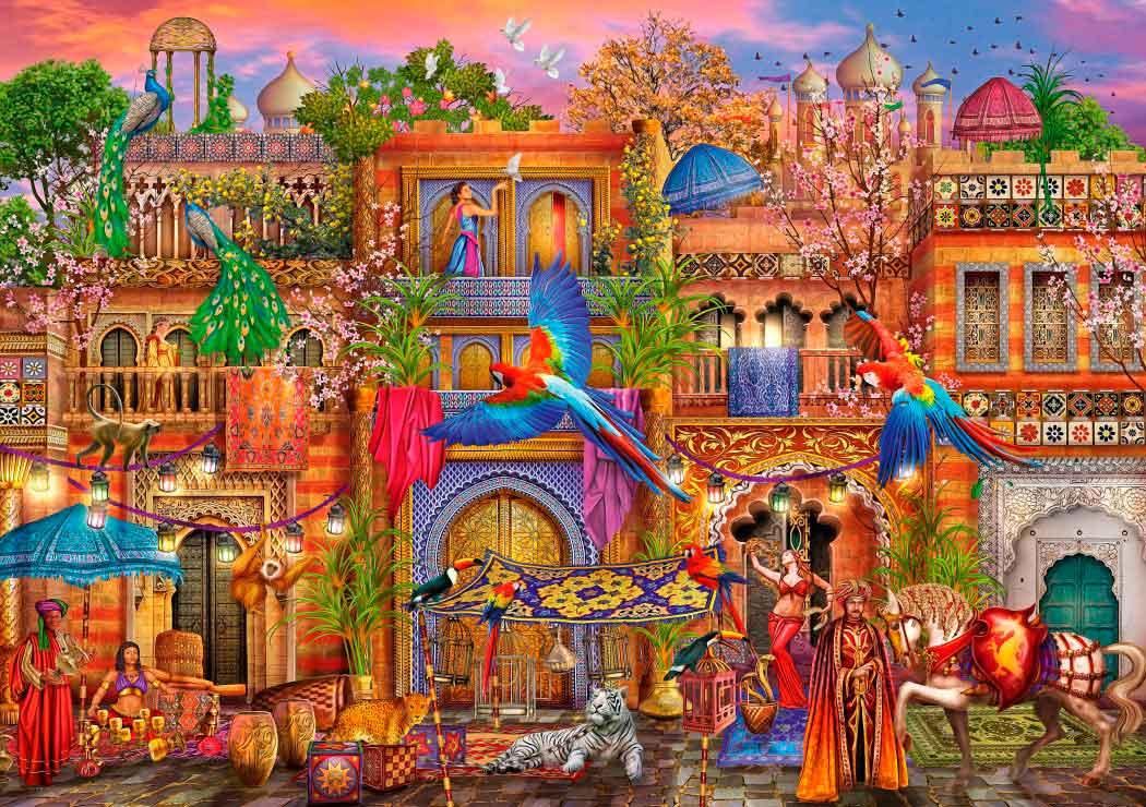 Puzzle Bluebird Calle Árabe de 1000 Piezas