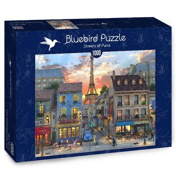 Puzzle Bluebird Calles de París de 1000 Piezas