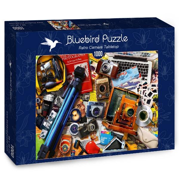 Puzzle Bluebird Cámaras Retro y Portátil de 1000 Piezas