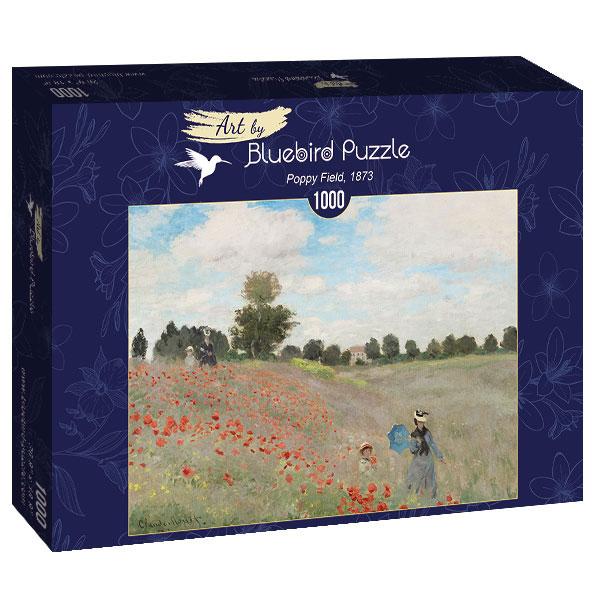 Puzzle Bluebird Campo de Amapolas de 1000 Piezas